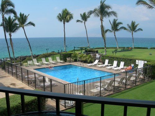 Kihei surfside Unit 206 Oceanfront View from Lanai