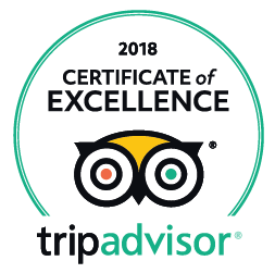 Trip Advisor 2018 Cerificate of Excellence Winner