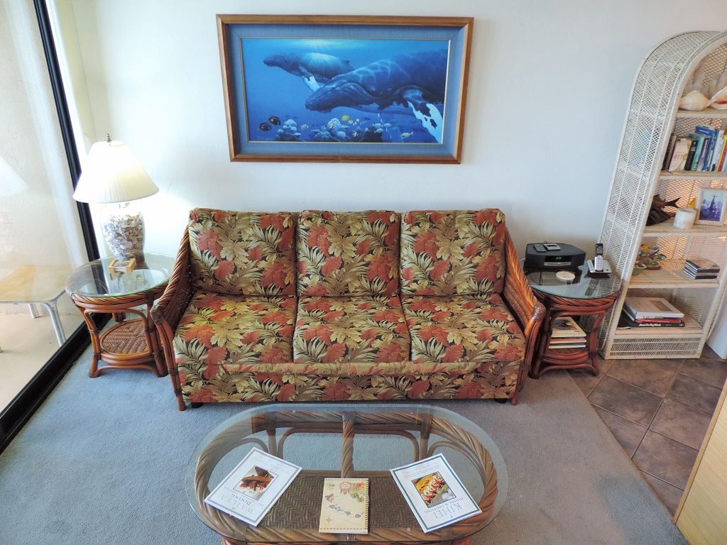 Kihei Surfside Unit 402 - Living Room photo