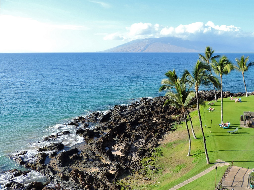 Kihei Surfside Condo Unit 502 oceanfront view
