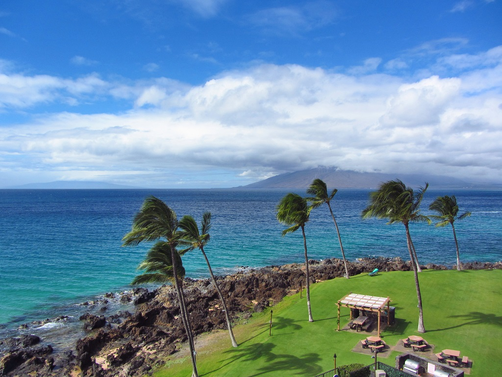 Kihei SurfSide Vacation Rental in Maui unit # 505 oceanfront view