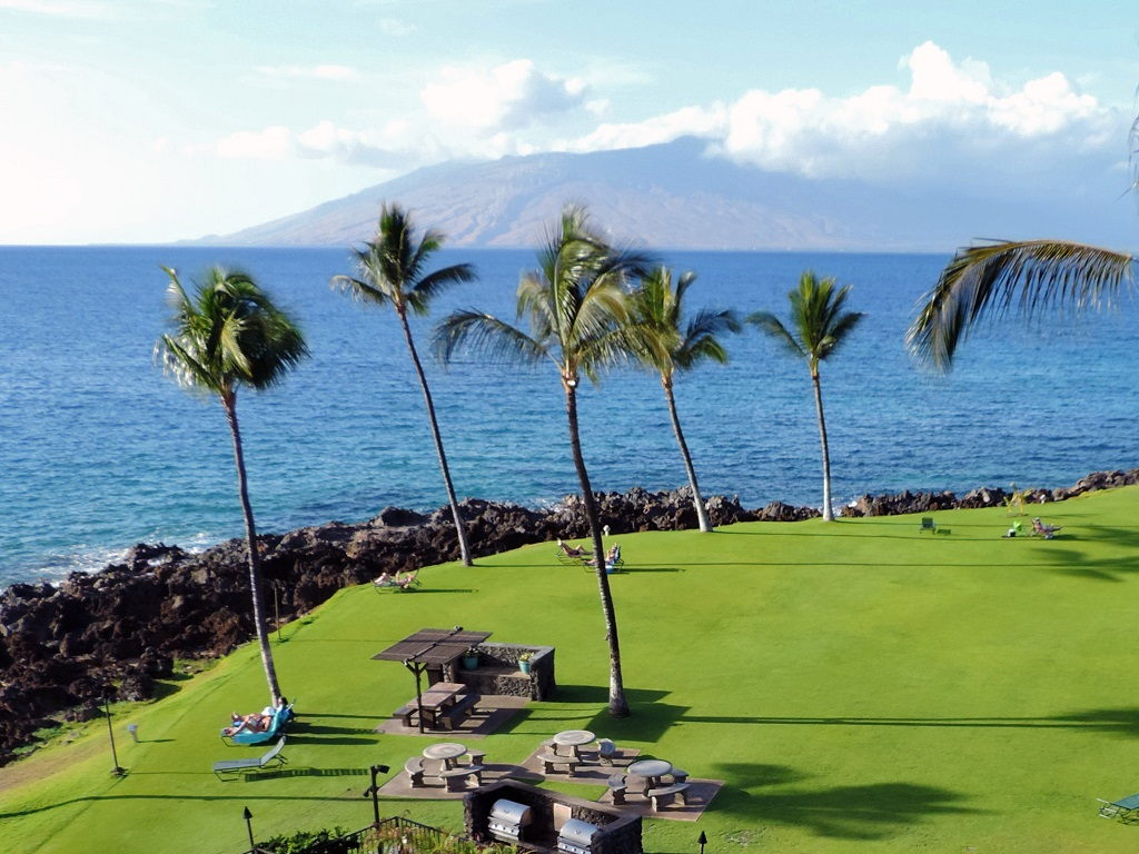 Kihei Surfside Oceanfront Condo Unit 506 View